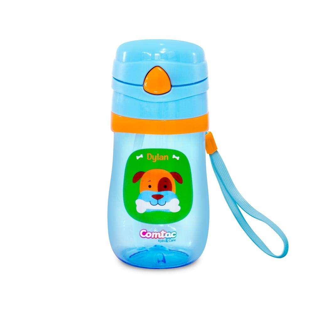 722a123b7 Copo plástico c/ canudo tampa pop-up e sistema anti vazamento linha lets go  cachorro dylan 350 ml 350 ml bpa free